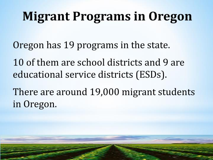 Migrant Programs in Oregon