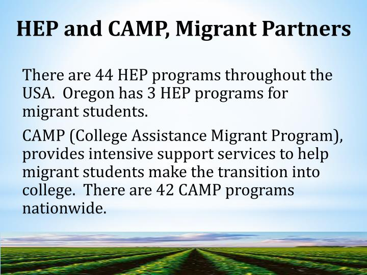 HEP and CAMP, Migrant Partners