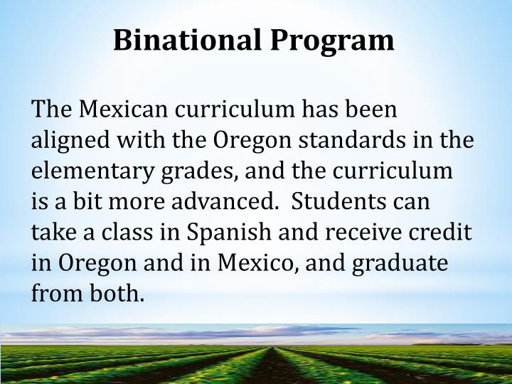 Binational Program