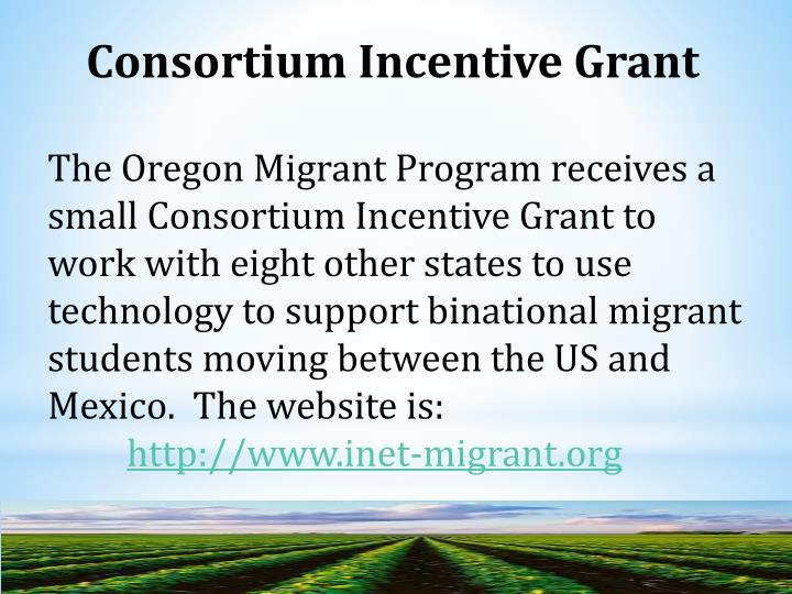 Consortium Incentive Grant