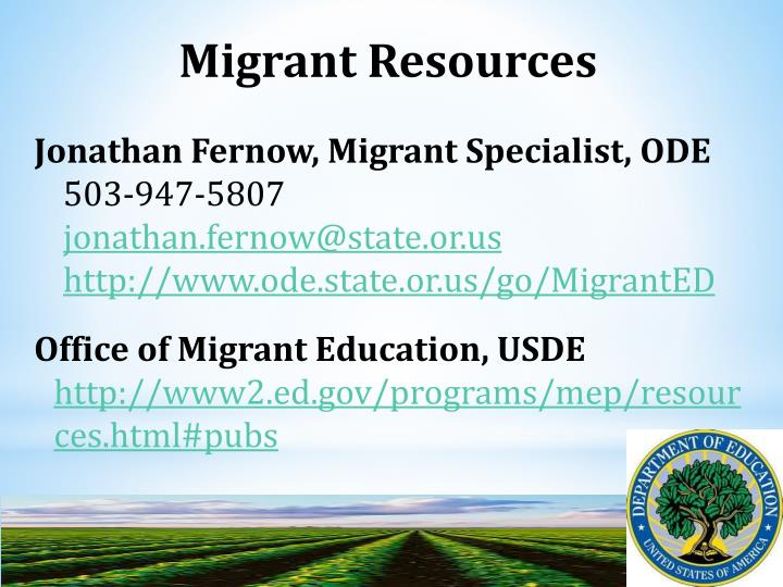 Migrant Resources