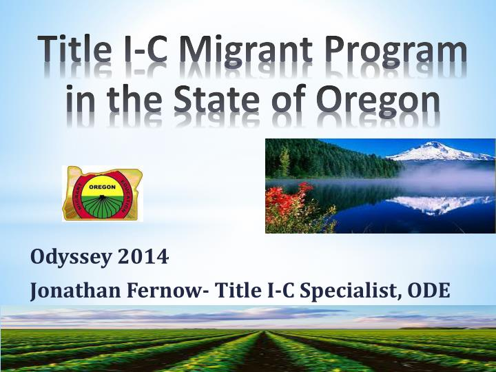 Title I-C Migrant Program