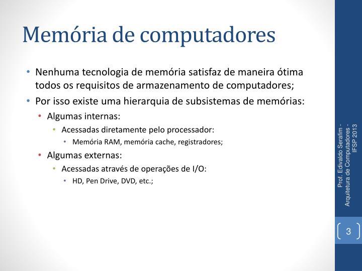 Memória de computadores
