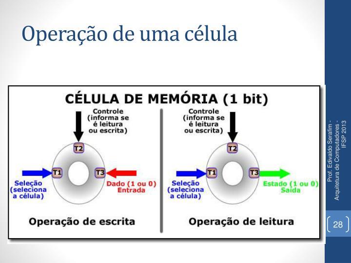 Operação de uma célula