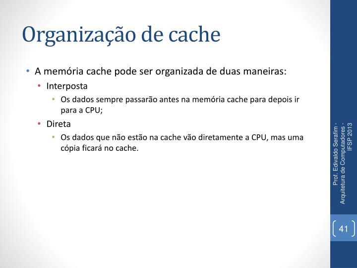 Organização de cache