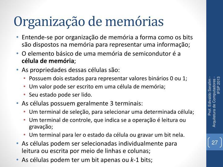 Organização de memórias