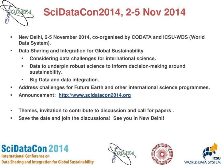 SciDataCon2014, 2-5