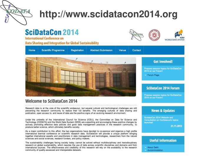 http://www.scidatacon2014.org