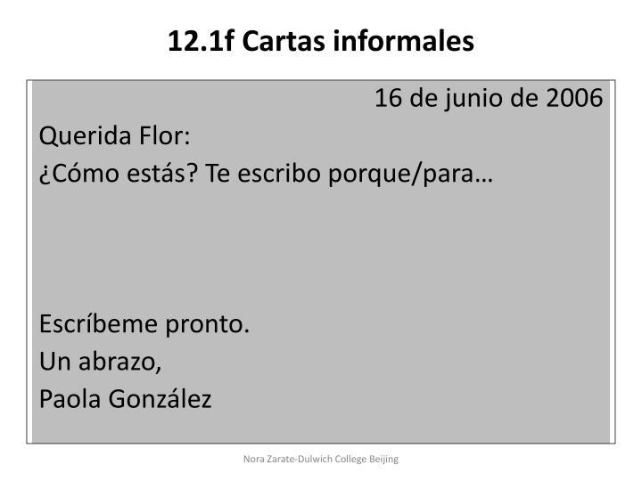 12.1f Cartas informales