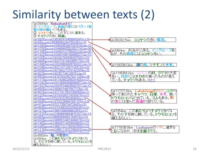 Similarity between texts
