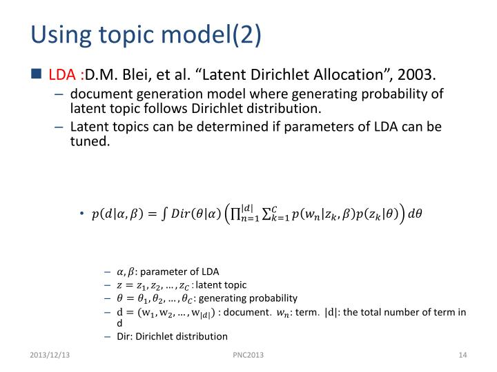Using topic model(2)