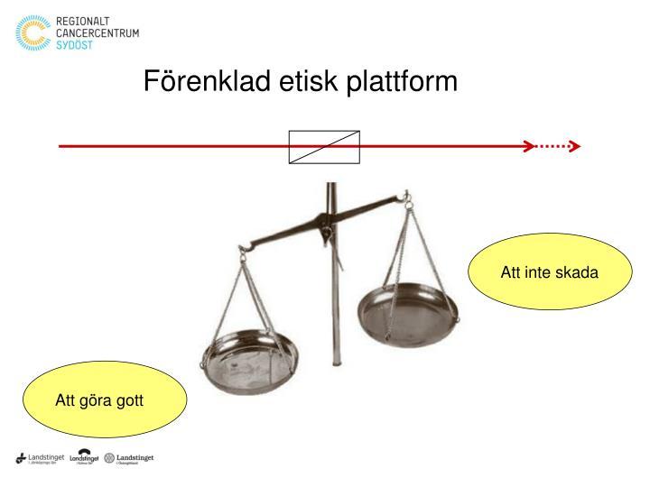 Förenklad etisk plattform