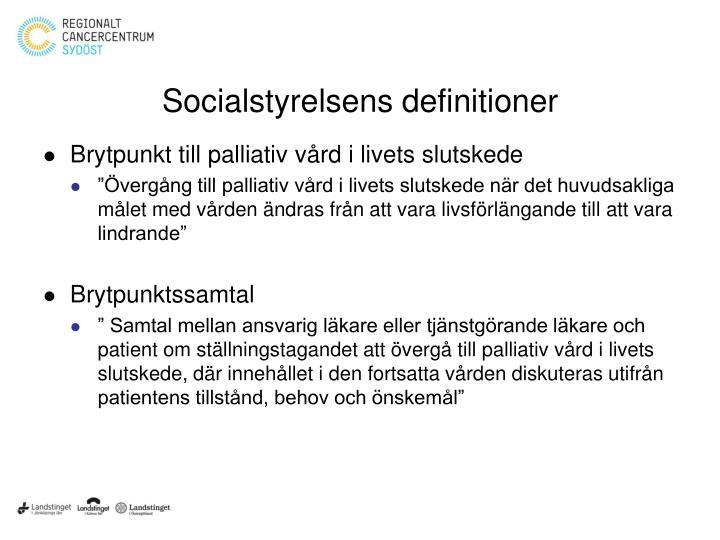 Socialstyrelsens