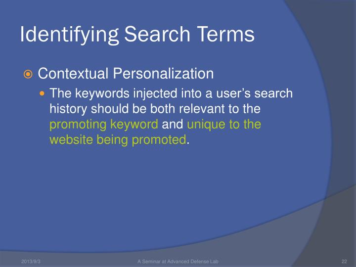 Identifying Search Terms