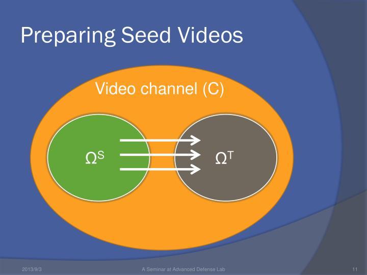 Preparing Seed Videos