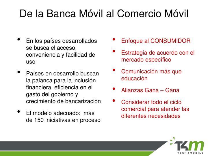 De la Banca Móvil al Comercio Móvil