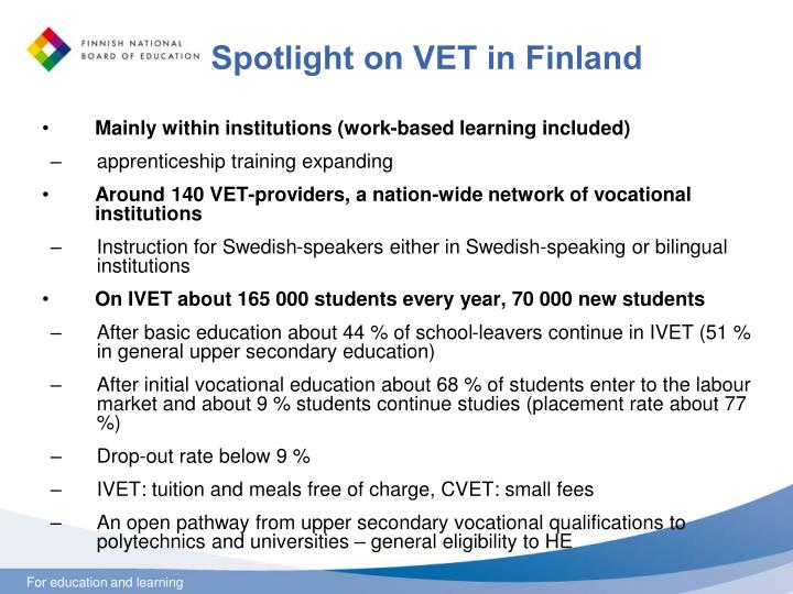 Spotlight on VET in Finland