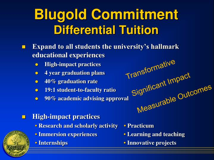 Blugold commitment differential tuition