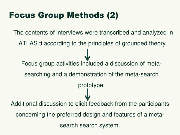 Focus Group Methods (2)