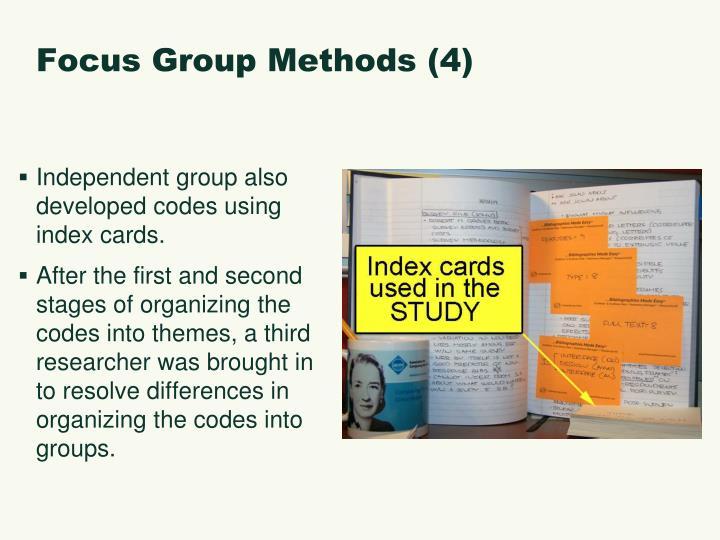 Focus Group Methods (4)