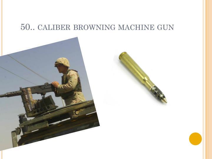 50.. caliber browning machine gun