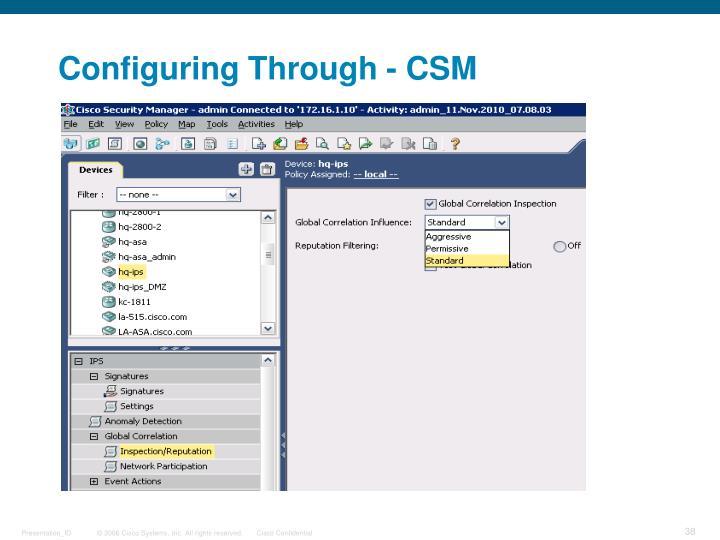 Configuring Through -