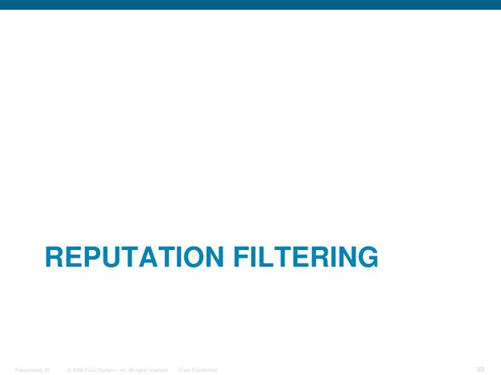 Reputation Filtering