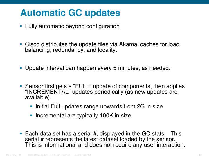 Automatic GC updates