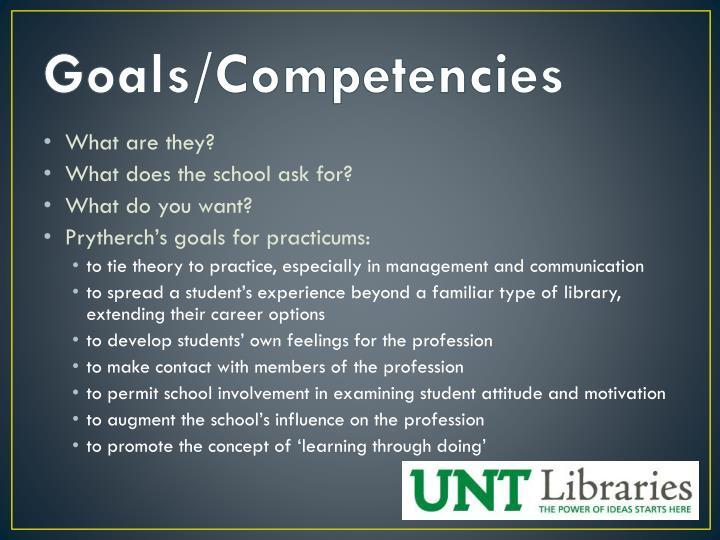 Goals/Competencies