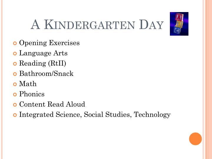 A Kindergarten Day