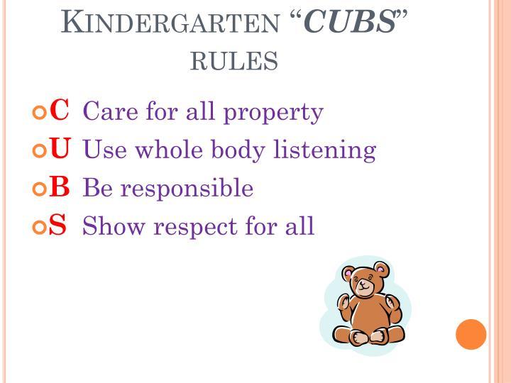 """Kindergarten """""""