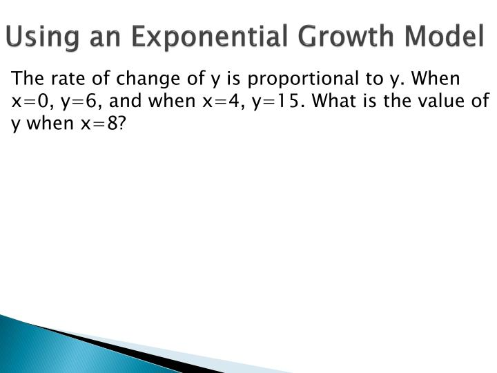 Using an Exponential Growth Model