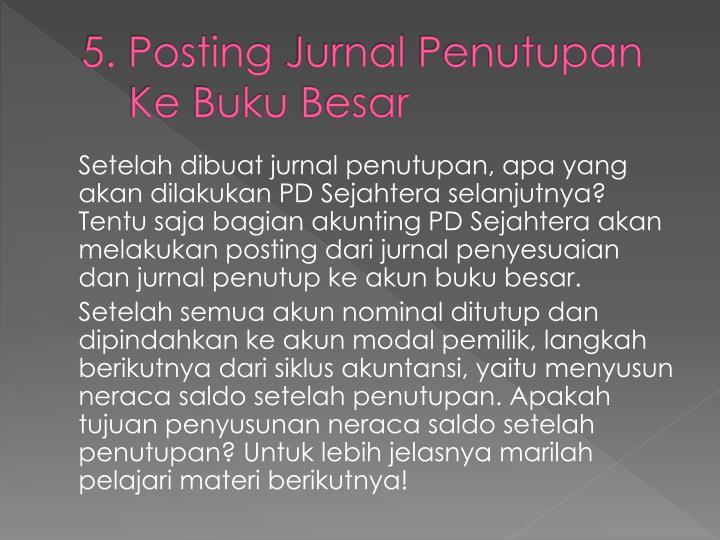5. Posting