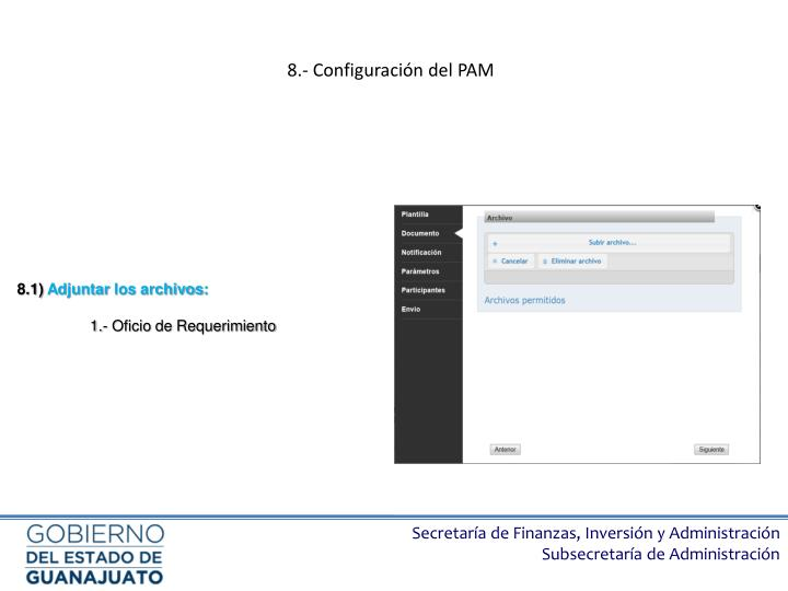 8.- Configuración del PAM