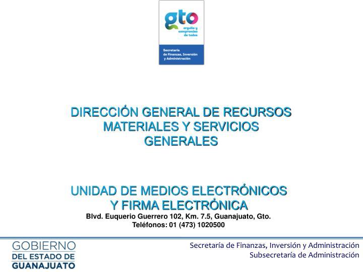 DIRECCIÓN GENERAL DE RECURSOS