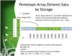 pemetaan array dimensi satu ke storage2