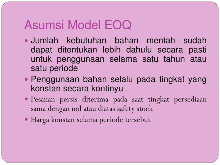 Asumsi Model EOQ