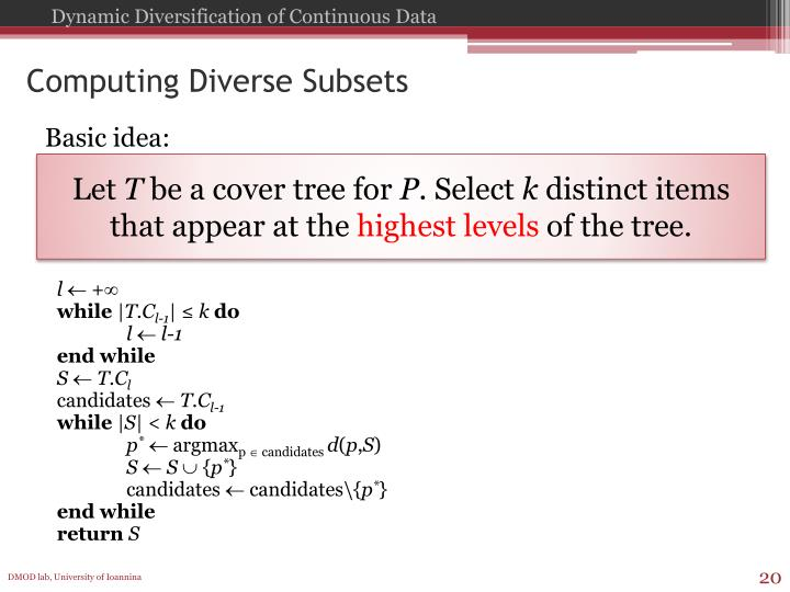 Computing Diverse Subsets