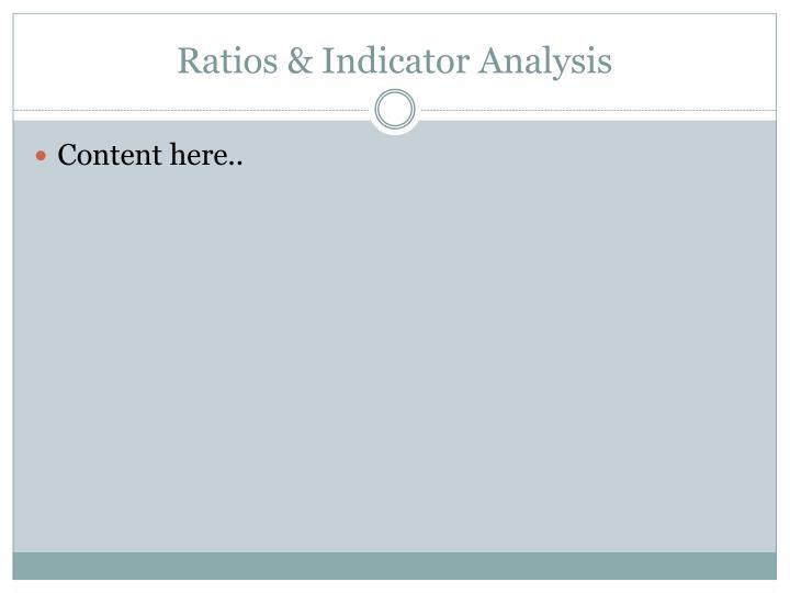 Ratios & Indicator Analysis