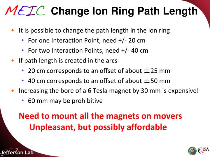 Change Ion Ring Path Length