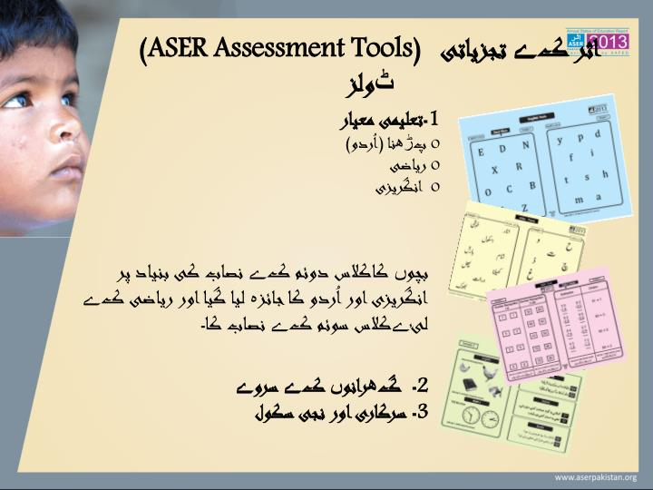 (ASER Assessment Tools)