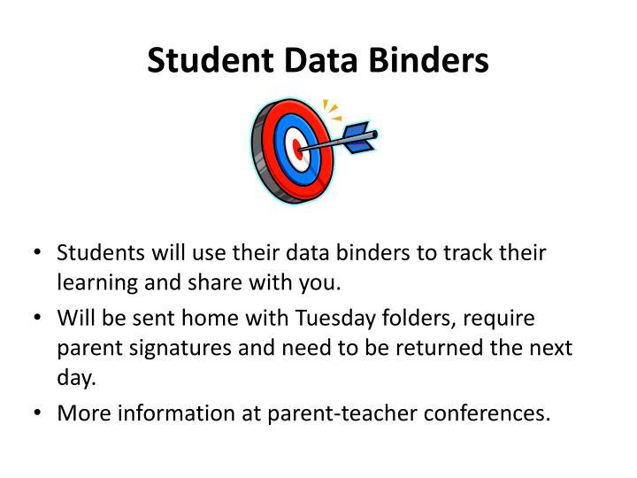 Student Data Binders