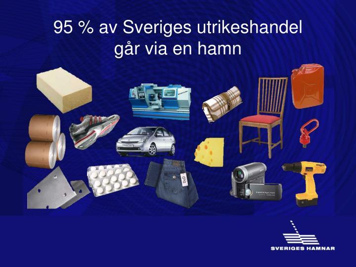 95 % av Sveriges utrikeshandel