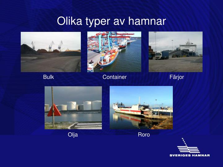 Olika typer av hamnar