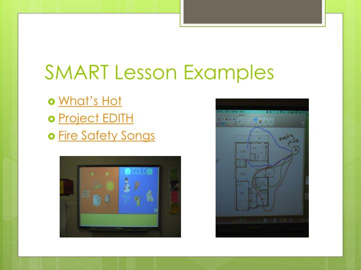SMART Lesson Examples
