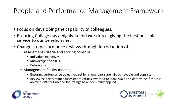People and Performance Management Framework