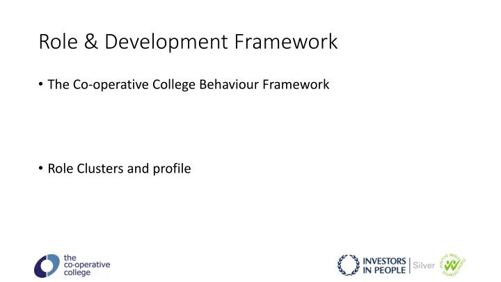 Role & Development Framework