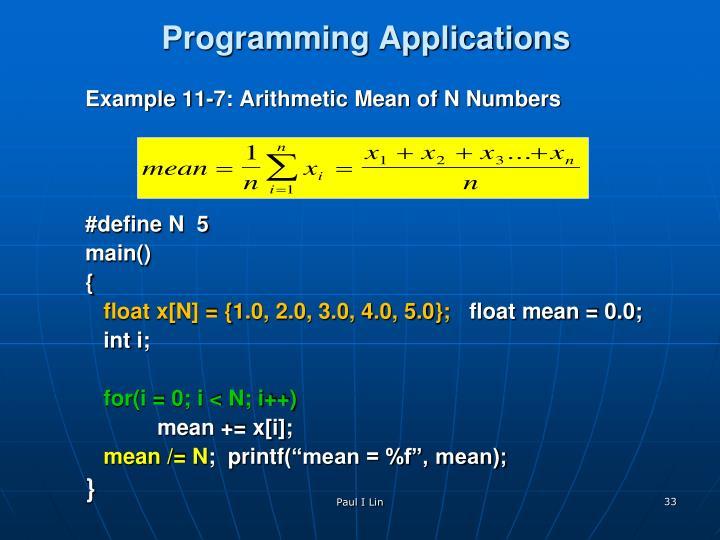 Programming Applications