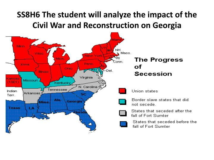 the civil war and reconstruction of georgia essay Essay prompts, rubric & instructions for the american  final essay prompt the civil war left a lasting impact  and the plans for reconstruction after the war.