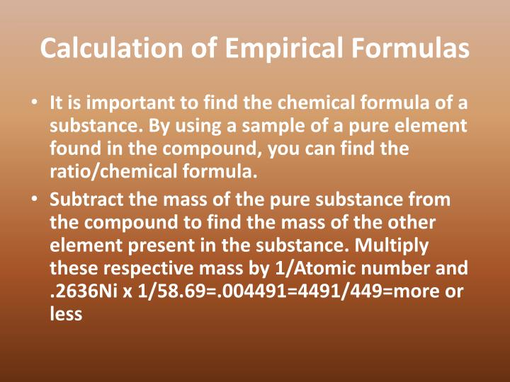 Calculation of Empirical Formulas